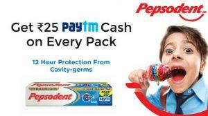 Pepsodent paytm cashback