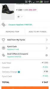 Fynd app product