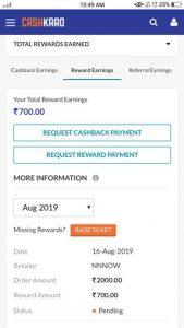 cashkaro earnings