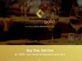 Zomato gold membership for free