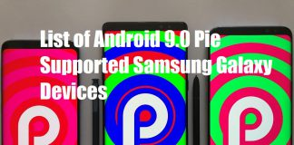 List of devices supports android pie 9