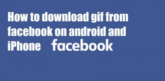How to download gif from facebook on android and iPhone